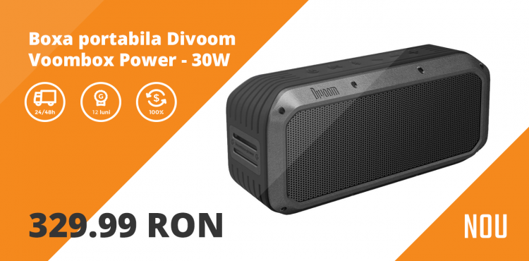 Boxa portabila Divoom Voombox Power - 30W