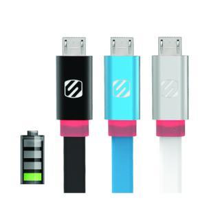 Cablu micro USB de date si incarcare flatOUT LED