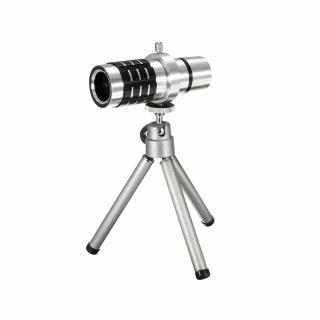 Kit mini trepied cu zoom optic 12x pentru smartphone