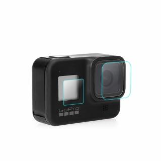 Folie protectie 3 in 1 din sticla securizata pentru GoPro Hero 8 Black, 6 piese