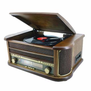 Unitate retro cu CD, radio, caseta si pick-up