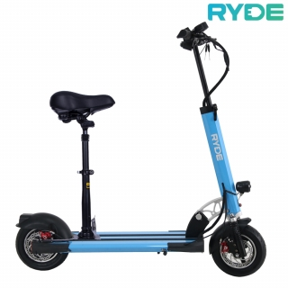 Pachet trotineta electrica pliabila RYDE 400 albastra + Scaun pliabil
