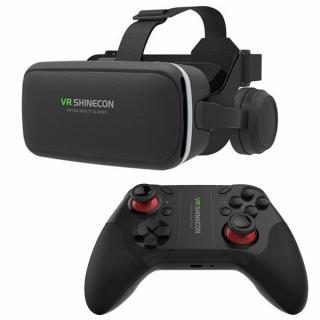 Ochelari VR Shinecon cu casti integrate G04E +Gamepad VR Shinecon C08