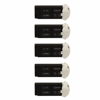 Set 5 acumulatori pentru HUBSAN x4 H107D+, 3.7V, 520mAh