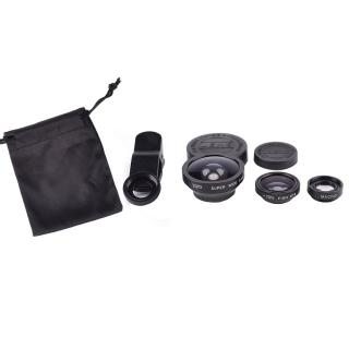 Set lentile 3 in 1 cu clema pentru dispozitive mobile