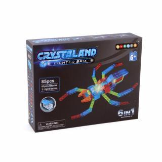 Puzzle cuburi cu LED 6 in 1 - Reptile, Paianjen, Scorpion, Soparla, Robot - 85 piese