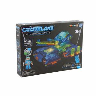 Puzzle cuburi cu LED 3 in 1 - Tanc - 247 piese